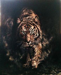 #Kaplan / #Tiger by Nilay Eruguz, 80cm x 100cm  #gallerymak #resim #ig_sanat #tablo #güzelsanatlar #çağdaşsanat #painting #figurativeart #oilpainting #yağlıboya #contemporaryart #modernart #artgallery #artcollector #artlovers #masterpiece #auction #sothebys #christies #artforsale #contemporaryartcurator #rkoi #hyperrealistic #realistic #nature #portrait #natgeo