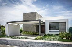 Modern House Design : Casa by ADI Arquitectura y Diseño Interior. Residential Architecture, Contemporary Architecture, Interior Architecture, Modern Exterior, Exterior Design, Exterior Colors, Facade House, House And Home Magazine, Modern House Design