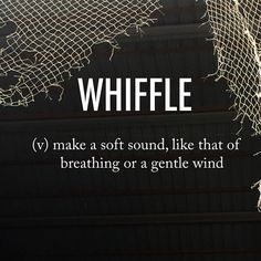 Whiffle |ˈ(h)wifəl| mid 16th century origin frequentative (verb), diminutive (noun) of whiff . . #beautifulwords #wordoftheday #whiffle #soft #sound #breathing #breathe #wind #gentle #breeze #whiff #spring