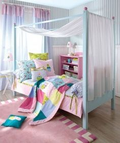Four Poster Bed| Designer Canopy Bed| Luxury Girls Bedroom Pictures