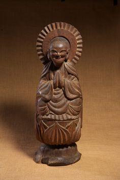 木喰仏 地蔵菩薩像 江戸時代 1801年  Mokujiki Butsu