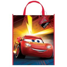 Large Plastic Disney Cars Goodie Bag, 13 x 11 in, Multicolor Disney Cars Games, Disney Cars Party, Disney Cars Birthday, Car Themed Parties, Cars Birthday Parties, 3rd Birthday, Cars Party Favors, Party Bags, Wholesale Party Supplies