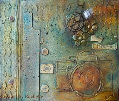 Mixed media album cover - #scrapping4funchallenges Mixed Media Journal, Art Journaling, Diy Art, Album Covers, Creative, Painting, Art Diary, Painting Art, Paintings