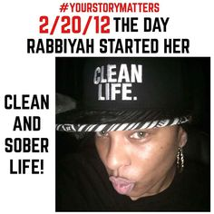 @rabbiyah1 proud clean & sober wearing our Clean Life hat! You go girl!