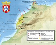 The Portuguese Reconquista in Morocco at its greatest extent in 1515.