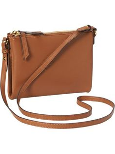 Old Navy Womens Faux Leather Crossbody Bags Size One Size - Cognac brown