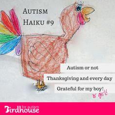 #AutismHaiku for #Thanksgiving