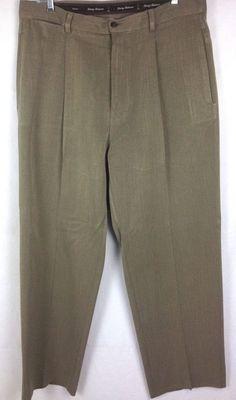Tommy Bahama Pants Silk Mens Beige Pleated Chinos 34 #TommyBahama #KhakisChinos