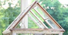 erin's art and gardens: garden folly Window Greenhouse, Greenhouse Plans, Porch Bench, Garden Terrarium, Old Windows, Garden Inspiration, Projects To Try, Green Houses, Gardens