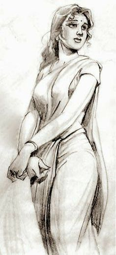 Indian Women Painting, Indian Art Paintings, Girl Drawing Sketches, Art Drawings Sketches Simple, Abstract Pencil Drawings, Indian Art Gallery, Sexy Painting, India Art, Buddha Art