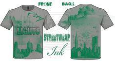 City Lights T-shirt Designed By StreetWear INK by ~StreetWearinc on deviantART