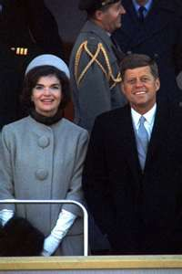 Inauguration Day for President John F. Kennedy, here with his wife, Jacqueline.