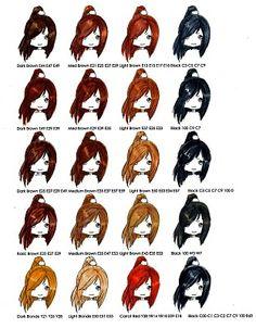 Copic Hair Colour Combos 1