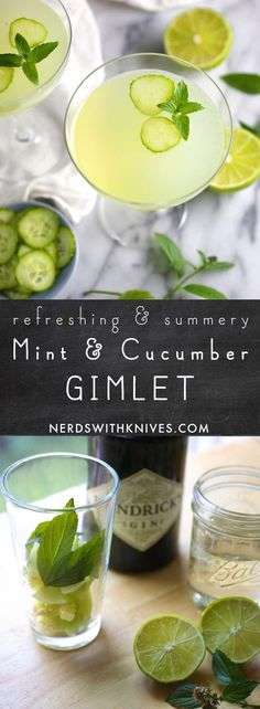 Refreshing and a perfect balance of tart and sweet. But enough about you lets make this cucumber and mint gimlet. Cucumber Gimlet, Gimlet Recipe, My Favorite Food, Favorite Recipes, Good Food, Yummy Food, Cocktail Recipes, Margarita Recipes, Drink Recipes