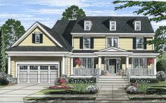 Traditional House Plan with Updated Amenities - 39238ST | 2nd Floor Master Suite, Butler Walk-in Pantry, Country, Den-Office-Library-Study,…