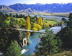 New Zealand's South Island -- Hanmer Springs - bungee-jumping bridge.