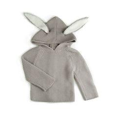 Oeuf Lightweight Toddler Bunny Hoodie @ acorntoyshop.com