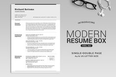 Download All in One Modern Resume Box V.2 @creativework247