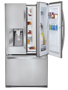 Thanks to the LG Door-In-Door Fridge, it's never been easier finding your favorite snack (or drink or vegetable or cheese or condiment or juice box).
