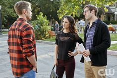 """Hart of Dixie -- """"One More Last Chance"""" -- Image Number: HA311b_0495b.jpg -- Pictured (L-R): Wilson Bethel as Wade, Rachel Bilson as Dr. Zoe Hart and Josh Cooke as Joel -- Photo: Greg Gayne/The CW -- � 2013 The CW Network, LLC. All rights reserved.pn"""