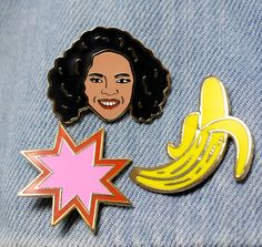friendship pins...mine is obviously Oprah. Obviously.
