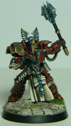 Warhammer 40k, (Chaos) Space Marines. A super kit-bash conversion of Forgeworld parts to make a pre-Heresy Scarab Occult member of the Thousand Sons. Nice!