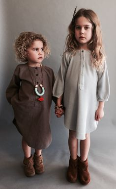 Elodie (Deaf) and friend Marie Cute Kids Fashion, Little Girl Fashion, Organic Clothing Brands, Organic Baby Clothes, Malu, Baby Style, Sewing For Kids, My Baby Girl, Toddler Girl