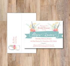 Rustic Wildflowers Watercolor Shower Invitation  by cwdesigns2010