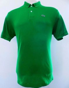 Lacoste Polo Shirt 6 Green XL Mens Logo Alligator Gator Men Size Cotton Devanlay #Lacoste #PoloRugby