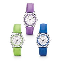 Your wrist gets a little bit brighter with this sporty watch! Add a bold, colorful touch to any look. This sporty watch features a colorful strap and glimmer detailing around the dial. Regularly $19.99, shop Avon Jewelry online at http://eseagren.avonrepresentative.com