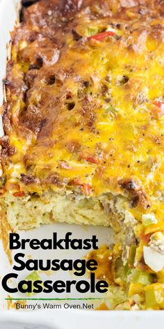 There are so many occasions when this delicious ,easy Sausage Breakfast Casserole would be welcomed. This breakfast casserole is put together the night before you're going to make it. Sausage Bread, Sausage Casserole, Casserole Recipes, Casserole Ideas, Overnight Hashbrown Breakfast Casserole, Christmas Breakfast Casserole, Breakfast Dishes, Breakfast Recipes, Breakfast Ideas