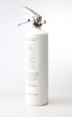 Asplund collaborated with Brandsläckaren.se and developed a very stylish fire extinguisher in matte white