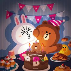 BROWN PIC is where you can find all the character GIFs, pics and free wallpapers of LINE friends. Come and meet Brown, Cony, Choco, Sally and other friends! Cute Love Pictures, Cute Love Gif, Mocha, Line Cony, Cony Brown, Brown Bear, Happy Birthday Wallpaper, Happy Birthday Wishes Cards, Cute Couple Cartoon