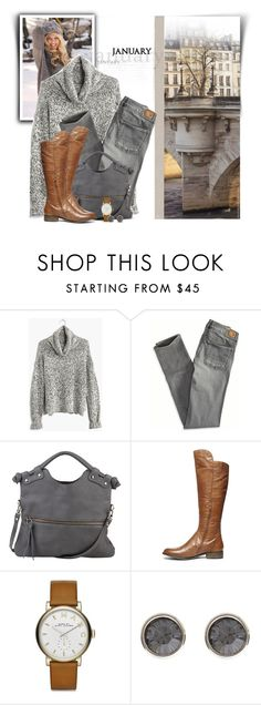 """Cognac & Gray"" by steffiestaffie ❤ liked on Polyvore featuring Madewell, American Eagle Outfitters, Pietro Alessandro, Steve Madden, Marc by Marc Jacobs and Karen Millen"