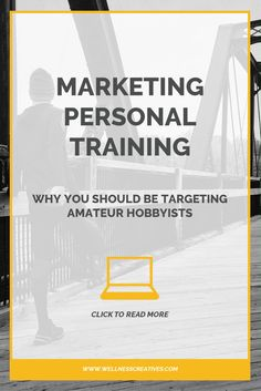 Marketing personal training to amateur hobbyists is a smart business move. They're usually dedicated clients who value fitness so will happily pay for a personal trainer. Click to read more...