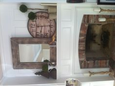 Fireplace mantle.  something like this could work for me but without the arch.  does it fit over the existing brick?