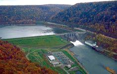 Kinzua Dam, Pennsylvania, east Unitetd State look on the Top