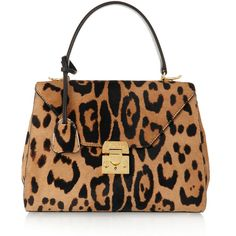 Mark Cross Hadley small leopard-print calf hair tote (48.465 ARS) ❤ liked on Polyvore featuring bags, handbags, tote bags, animal print, tote purse, black structured tote, black tote purse, handbags totes and cell phone purse