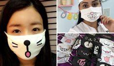Cómo hacer un tapabocas de tela en casa de forma fácil con este paso a paso. El tapabocas nos puede ser de gran utilidad para muchas cosas. Diy Mask, Diy Face Mask, Mouth Mask Design, Cat Drawing Tutorial, Sewing Crafts, Sewing Projects, Tapas, Clothing Hacks, Diy Crafts To Sell
