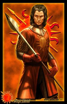 """Oberyn Martell by Amok - """"Check out Amok's version of the Red Viper, that's how I saw him."""" says GRRM"""