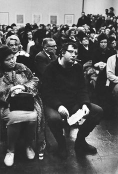 Horst Janssen. The photo was taken 1965 by Thomas Höpker, shows German printmaking legend Horst Janssen in full effect. Quite possibly at the Edwin Scharff Prize ceremony in Hamburg