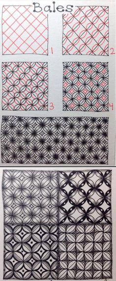 Bales - Zentangle pattern