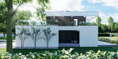 DOM.PL™ - Projekt domu CPT HomeKONCEPT-37 CE - DOM CP1-42 - gotowy koszt budowy Modern Family House, Modern House Plans, 2 Storey House Design, Dream Home Design, Malm, Home Fashion, Pergola, New Homes, Exterior