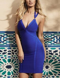 Whoinshop Womens Spaghetti Straps Deep V Neck Halter Clubwear Bodycon Bandage Dress Blue M -- See this wonderful item. (This is an affiliate link ). Jumpsuit Dress, Bodycon Dress, Sexy Dresses, Blue Dresses, Guess Dress, Clubwear, Night Out, Lace Dress, Autumn Fashion