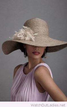 Lady style, hat and dress