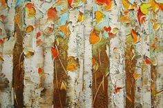 ORIGINAL Birch Trees Aspen Landscape Large por ModernHouseArt