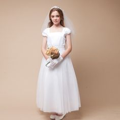 67.50$  Buy now - http://aliw49.worldwells.pw/go.php?t=32666410271 - Lizi Wholesale Flower Girls Dress Ankle Length Formal Lace Sleeveless Solid Shoulderless Hot A-Line Lace Flower Girls Dresses