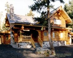 First log home I ever designed--in Whistler, BC For more photos or this or any…