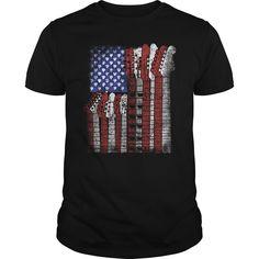 Guitar USA Flag. Music t-shirts, Music sweatshirts, Music hoodies,Music v-necks, Music tank top, Music legging.
