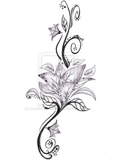 Tribal Lilly Tattoos - Bing Images If I Were Talented Enough I Would Henna This Upon Myself. I Love Henna. And I Love Lilies.